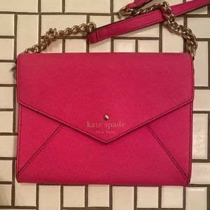Kate Spade Classic Pink Envelope Crossbody